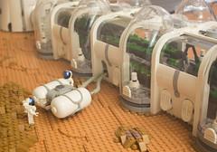 Arsia Prime | 7 (eldeeem) Tags: lego mars colony settlement greenhouse vegan rover flesh nougat exploration science scifi