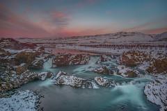 Glanni Waterfall, Iceland (FollowingNature (Yao Liu)) Tags: glanniwaterfall iceland waterfalls sunset snow winter followingnature norðuráriver dwellingplaceofelvesandtrolls bifrost icelandphotographylocations icelandphotos