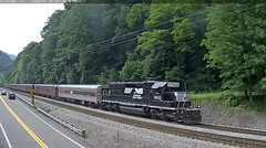 NS 3533 June 12 2017 (Trains By Perry) Tags: norfolksouthern ns emd sd402 landgraffwv webcam passengercars norfolkwestern