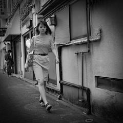 Untitled (Bill Morgan) Tags: fujifilm fuji x100f bw jpeg acros lightroomcc tokyo girl mitaka