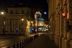Warsaw in the night... (Peppis) Tags: polonia polland varsavia warsaw nikon nikond7000 nikonclubit night nightimage nightlights fotonotturne fotosnocturnes nightshot theatre operahouse opera anticando angoli hccity peppis