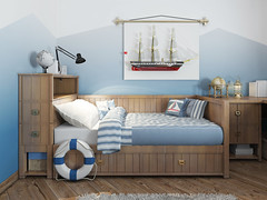 Play Rooms (Rex Homes) Tags: student boys comfortable lifebelt child sleeping rudeness elegance bright blue modern architecture childhood indoors decoration flooring bedroom domesticroom costume electriclamp pillow cushion decor desk table bed furniture nauticalvessel playroom rex homes rexhome