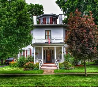 Homer New York ~ Octagonal House ~  Built in 1853 ~ Historic