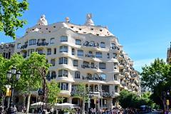Casa Mila, Barcelona (AntonisN) Tags: architecture gaudi barcelona casa mila travelling spain pedrera