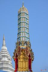 Wat Khunchan Merit Shrines Pinnacle of One of Three Prangs or Chedi (DTHB2028) วัดขุนจันทร์ สิขรของหนึ่งในของ สามปรางค์หรือเจดีย์ ศาลาทำบุญ