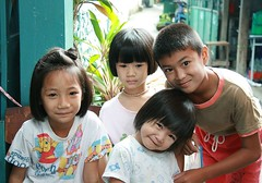 brother, sisters and friend (the foreign photographer - ฝรั่งถ่) Tags: four children brother two sisters friend khlong thanon portraits bangkhen bangkok thailand canon kiss