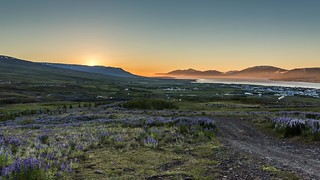 Sunset in Eyjafjordur