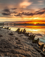 Wigg Islamd (5 of 10) (andyyoung37) Tags: merseyflatbargewrecks runcorn runcornbridge uk wiggisland cheshire rivermersey sunset