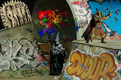 Wait for it (petejam70) Tags: vancouvercanada composite magic mysterious colors graffiti urban surreal action