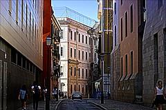 Old City (M.G.N. - Marcel) Tags: picmonkey personas ventanas puertas auto movil farolas calle flickr balcones cielo alambrada terraza letrero paredes