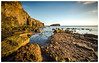 The Golden Hour (eyecandyclick) Tags: northsea goldenhour beach cove yorkshirecoast bluesky awesomeviews daylight ndgradfilter earlymorning smuggler maritime vikings nautical canoneos5dmrklll wideangle