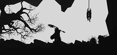 """""""Lost"""" (L1netty) Tags: games screenshot knight blackandwhite gaming reshade pc deck13 lordsofthefallen fantasy bw 4k harkyn character videogame warrior silhouette"""