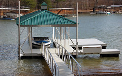 Side Slip or PWC Slip Hip Roof Docks