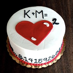 Love Equation - 500028 (Creative Cakes - Tinley Park / Naperville) Tags: love math pi heart freehand bead border