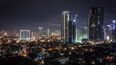 Night shift. (benito.astorga) Tags: nightscapes citylights urban makati philippines