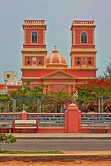 Eglise de Notre Dame des Anges HDR (Balaji Bharadwaj) Tags: hdr notredame pondicherry church red