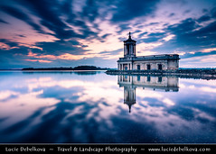 United Kingdom - England - Submerged Normanton Church on shore of Rutland Water reservoir at Dusk (© Lucie Debelkova / www.luciedebelkova.com) Tags: normantonchurch rutlandwater uk england unitedkingdom greatbritain europe gb british eu britishisles west western island britain english water paysage scenic paesaggio travel view panorama outdoors magiclight landscape beautiful landschaft paisaje tourism light vista exploration dawn breathtaking beauté awesome atmosphere lumière nature mood scenery stunning dusk dramaticlight fantastic incredible licht wonderful trip color beautifulscenery couleur couleurs edgeoftheworld natureza natuur evropa wwwluciedebelkovacom luciedebelkova