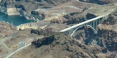 Hoover Dam and road by-pass cropped (Vee living life to the full) Tags: hooverdam architecture lasvegas nevada arizona river flood dam nikond300 2017 holiday travel tourism tourist placestovisit traveller pleasure usa sheer drop mountains skyline horizon transport bridge bypass road travelling driving map location water las vegas tours helicopter view flight airways grandcanyonhelicopters air aeroplane copilots seat