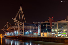 Cardiff Millennium Stadium (technodean2000) Tags: cardiff south wales uk nikon d5200 night skyline architecture d610 rugby ground world cup football stadium millennium bridge dusk outdoor city