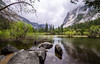 Mirror Lake (buddythunder) Tags: travel usa 2017 america yosemite california ca park landscape mirrorlake lake reflection rocks leadin wideangle branch frame mountains valley lush green