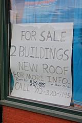 Buildings For Sale, Red Oak, IA (Robby Virus) Tags: redoak iowa ia for sale buildings two sign window handwritten