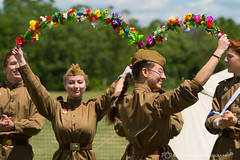 russian_dancers1b (ronfin44) Tags: wwii wwiiweekend wwiiairshow war airplane aircraft soldiers allies allied axis german ss nazi yankee lady b17 b25 b24 liberator panchito russians russian ruskie british paratrooper army navy marines airforce veterans veteran uniform medals awards troops