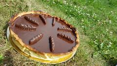 """Tarte au chocolat façon """"pims"""" (Claire Coopmans) Tags: tarte tartes pie choco chocolate chocolat pims orangette orange marmelade patisserie boulangerie biscuit sablé pâte pâtisserie"""