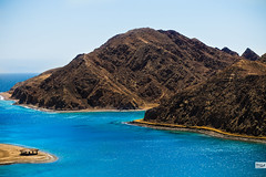 Close of Fiord Bay (Hossam Ghaith) Tags: sky landscape sea water nature beach travel island ocean vacation summer sand seashore bay outdoors scenic no person canon blue mountains camp natural landscapephotography sinai red ef85mm f18 usm taba eos 6d fiord hossam ghaith