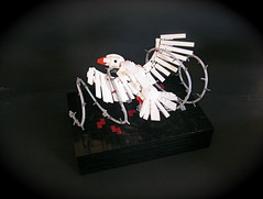 In Memory of (Cab ~) Tags: lego moc foitsop bird wire memorial creature