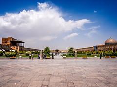 Naqsh-e Jahan Square in Isfahan, Iran. It is also referred to as Shah Square or Imam Square. (CamelKW) Tags: 2017 iran isfahan kashan naqshejahansquare shahsquare imamsquare
