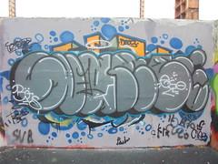 731 (en-ri) Tags: svame ego boc bocs crew blu grigio nero throwup torino wall muro graffiti writing