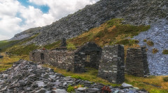 Abandoned and Neglected... (Lee Harris Photography) Tags: abandoned neglected history architecture building slate dinorwig quarry wales outdoors nikon rugged cloud sky green landscape ruins cymru interesting