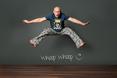 Fathers Day (seegarysphotos) Tags: seegarysphotos garylewis jump selfie happy fun laugh fathersday pjs man dad