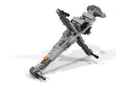 LEGO Star Wars Mini B-Wing Starfighter Attackmode (Cpt. Ammogeddon) Tags: star wars lego war moc costum mini b wing foil fighter grey black rebel sky space combat toy spielzeug play