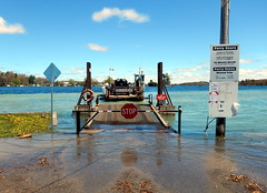 Lord Howe's soggy bottom ferry landing (subarcticmike) Tags: travel subarcticmike high water flooding lordhoweisland ferry landing ontario canada thousandislands geotagged canadaeh blue spring auntjune carride cans2s