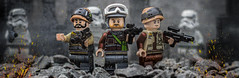 Fight For The Rebellion! (Lego_LUTs) Tags: green yellow blue storm trooper star wars war lego outdoors clone troopers first order blasters afol minifigs minifigures bricks blocks canon toy toys force legos t3i republic people photoadd atst death rogue one dirt practical effects orange arc