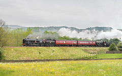 Not A Lot Right With This Picture. (neilh156) Tags: steam steamloco steamengine mainlinesteam railway 35018 britishindialine 98818 bodmin 45690 leander giggleswickbank giggleswick littlenorthwestern testrun pacificloco bulleidpacific merchantnavyclass merchantnavy rebuiltmerchantnavy southernrailway pacific bulleid lmsjubilee jubilee 5xp lms stanier brblack