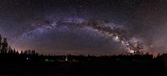 Milky Way Panorama (-> LorenzMao <- Catching up) Tags: httpwwwlorenzmaophotographycom milkyway milkywaypanorama panorama pano montmégantic quebeccanada quebec canada galacticcenter galacticcore photographer tripod house camper car trees roughroad star exloringquebec d750 nikond750 nightphotography tamron1530mmf28vc tamron1530mm