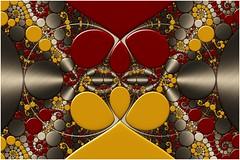 Tangible Duality (Ross Hilbert) Tags: fractalsciencekit fractalgenerator fractalsoftware fractalapplication fractalart algorithmicart generativeart computerart mathart digitalart abstractart fractal chaos art kleinian circleinversion tiling orbittrap