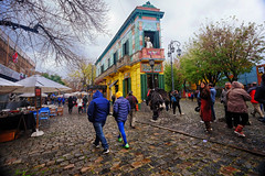 Caminito at La Boca in Buenos Aires, Argentina (` Toshio ') Tags: toshio caminito laboca buenosaires argentina colorful path street market shop stores people trees fujixe2 xe2 history travel cafe tango