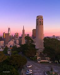 Coit Tower (davidyuweb) Tags: coit tower coittower san francisco sanfrancisco sfist luckysnapshot sunset colors
