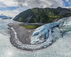 Aialik Glacier Bay Aerial (tobyharriman) Tags: 2014 2015 alaska adventure aerial art artist backcountry beautiful custom denali exitglacier fineart helicopter landscape landscpae mount mountains nationalpark nationalpreserve nature outdoor peaks photographer photography photos pictures planes prints professional robinsonr44 sanfrancisco seward sewardhelitours snow statepark stock summer timelapse tobyharriman tourism tours travel turningheadskennel units weather