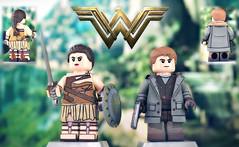 LEGO Wonder Woman (Amazonian outfit) & Steve Trevor (MGF Customs/Reviews) Tags: lego dc wonder woman steve trevor diana prince custom figure minifigure gal gadot chris pine patty jenkins ares