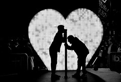 I love you (missgeok) Tags: blackandwhite bnw silhouettes people iloveyou sculpture vividsydney2016 sound creativeart iloveblackandwhite nocolour lighting heart fun festival nightshot outdoor circularquay sydney australia romance love shout lovemetre cool happy creative art installation