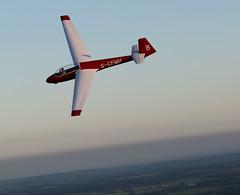 Buzzed (roger_forster) Tags: buzzed flypast glider gcfmh schleicherask13 lasham gliding hampshire