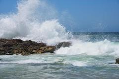 Wave Against Rock (Paul Hollins) Tags: aus australia camdenhead dunbogan newsouthwales nikond750 seascape midnorthcoast waveaction