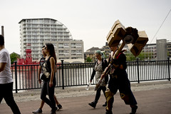 Walking shot 01 (jamiethompson01) Tags: comic con 2017 london excel dlr movies marvel video games pop culture batman spiderman star wars mcm multigenre fan convention bank holiday street candid martin parr british uk england people event day