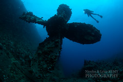 Umbria's propeller, seen from the bottom (Nicolas & Léna REMY) Tags: wreck nauticam ocean rebreather revo redsea africa underwater inon sudan afrique diving mer merrouge photography plongée recycleur scuba sea soudan épave