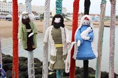 Knitted toys on Herne Bay Pier (ec1jack) Tags: kent england britain uk europe gardenofengland ec1jack canoneos600d kierankelly june 2017 coast beach seaside crochet knitted knit wool toys hernebaypier maddona mary josepth jesus sheperd