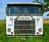 truck tats (David Sebben) Tags: mack semi truck cabover abandoned transportation tattoos pinstriping iowa